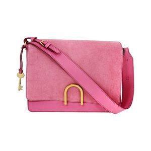 Fossil Finley Shoulder Bag pink leather